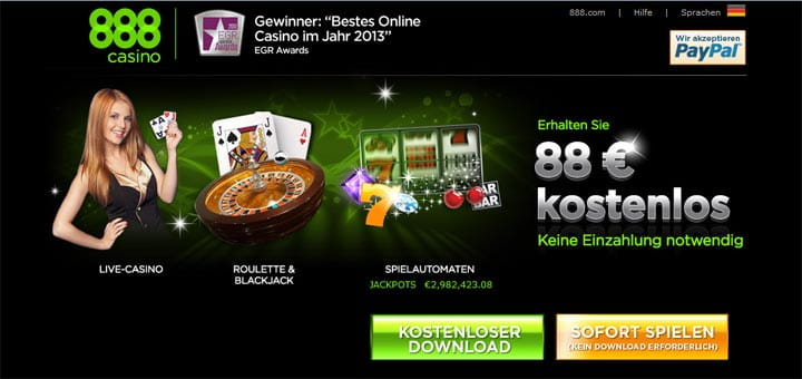 888 casino neue software