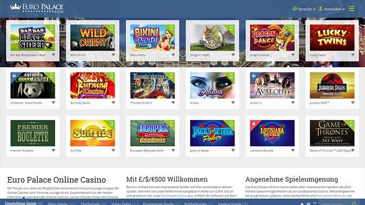 euro casino online spielautomaten games